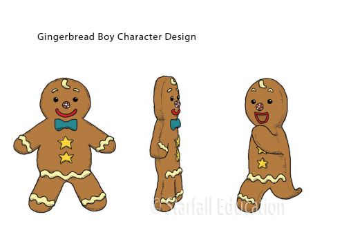 Gingerbread Boy Character Design by manosanai