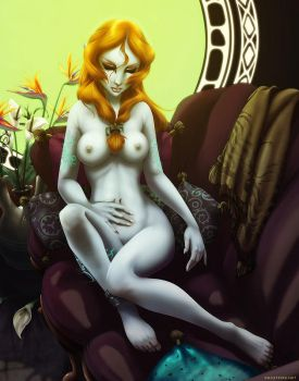 Sleepy Midna - Nude by ghostfire