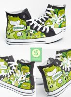 Green Planet Shoes by Bobsmade