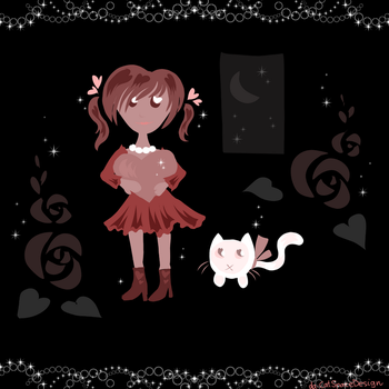 Girl with a Cat by CatSpaceDesign