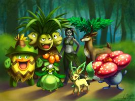 Commission - Pokemon Team - Grass