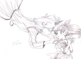 Helios and Chibimoon by fmacedo
