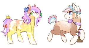 Easter Ponies 1 (1 LEFT) LOWER PRICE by Amiookamiwolf
