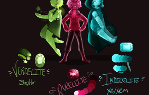 Rubellite, Verdelite, and Indicolite by pin-was-here