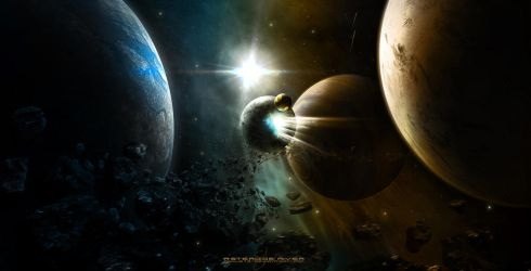 Asteroids River by Shue13