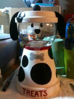 Dalmation Dog treat container by MonaLisaSmile23