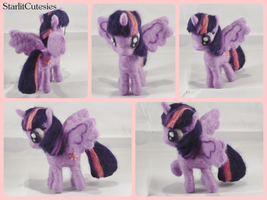 Needle Felted Twilight Sparkle! by StarlitCutesies