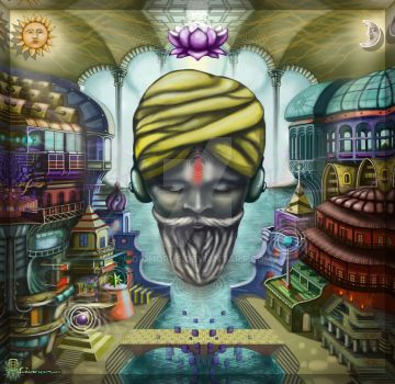 Sadhu listening ambient sounds by Giohorus