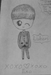 Luhan drawing by fantagerocks2013