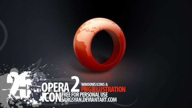 Opera Icon 2nd version by sargsyan