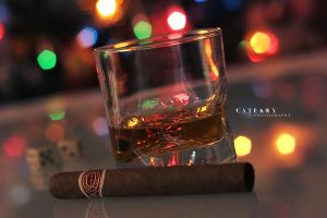 Cigar And Spirits by Catlaxy
