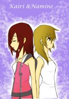 kairi and namine by kairikazu