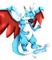 Shiny Mega Charizard - Request by silentlightness