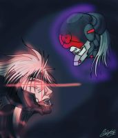 MGR Raiden vs Monsoon by moondaneka