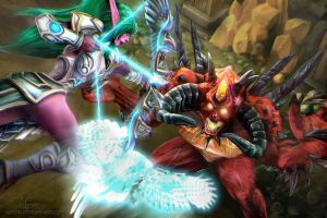 Heroes of the Storm - Tyrande vs Diablo by Adyon