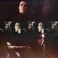 Damon and Elena by galato