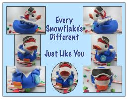 Every Snowflake's Different duckie by maskedzone