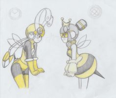 Queen bee fight by ick25