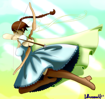 Bow and arrow by WeepyKing
