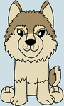 webkinz signature timber wolf drawing by lpscat123