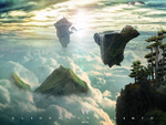 Island in the sky by 35-Elissandro
