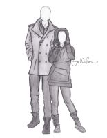 Favorite Couple - Sketch by Auridesion