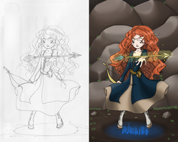 Merida and the Golden Arrow -- Scan 'n Paint by shinjuco