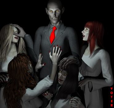 Vampire and his playthings by hypnovoyer