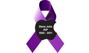 Jobs Pancreatic Cancer Ribbon by 2barquack