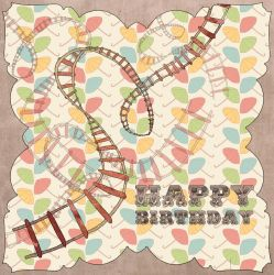 Circus Rollercoaster Card by CarlyMyles