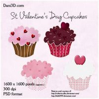 St. Valentine's Day Cupcakes by Dani3D