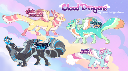 Cloud Dragon Adoptables- Sold! by crayon-chewer