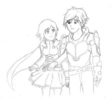 Request: Lancaster (RWBY) [Rough Draft Sketch] by AlphamusPrime