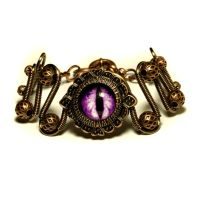 Purple Dragon Eye Bracelet by CatherinetteRings