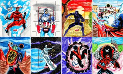 Marvel-sketchcards-2014 by marciocabreira