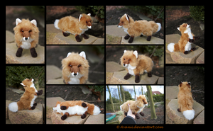 SOLD Plushie: Miro the Red Fox by Avanii