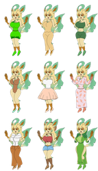 Flora Leafeon's Outfit by redryan2009