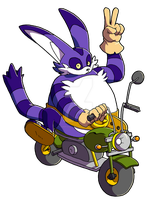 Big the Cat enjoys his ride by ThePandamis