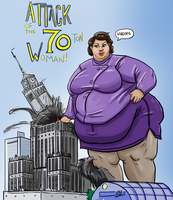 Commission: Attack of the 70 Ton Woman by Idle-Minded