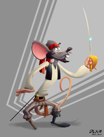 Pirate Rat by dwaynebiddixart