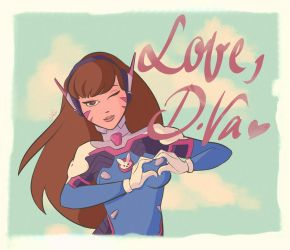 Love, D.Va  - Overwatch Fan Art by DonCorgi