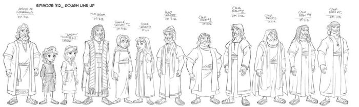 Superbook Incidental Characters by tombancroft