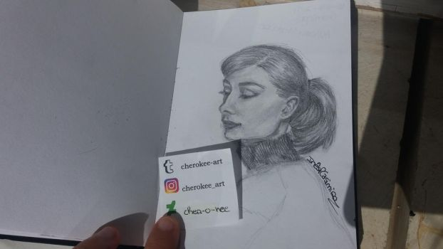 Audrey Hepburn by cher-o-kee
