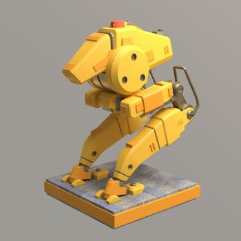 3D Blender - Test Mech by shinypants