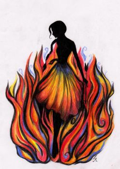 The Girl who was on Fire by La-Chapeliere-Folle
