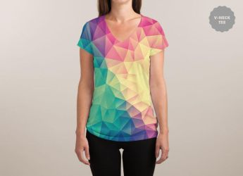 Color Bomb! @threadless (V-NECK) by mrsbadbugs