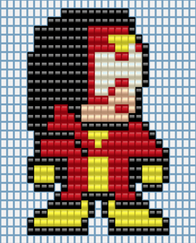 Spider-woman (No Wings Perler Bead Variant) Design by EpicMarchio