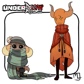 UnderDecay- Scarf Mouse and Nacarat Jester by Little-Noko