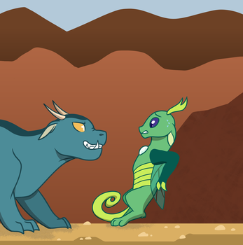 First Encounter by Quincydragon