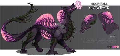 ADOPTABLE Close : GLOWBACK [Auction][paypal] by SmileykittyAdopt